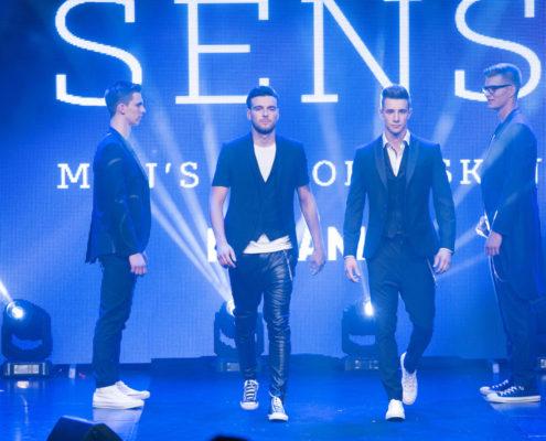 Elegantni finalisti v oblačilih slovenske blagovne znamke Sens, ki jo oblikuje priznana modna oblikovalka Zlata Zavašnik
